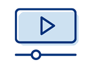 Icon representing watching a video